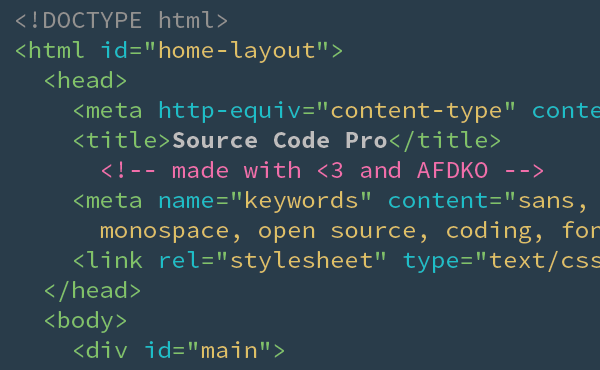 Source Code Pro sublime text 2 screenshot