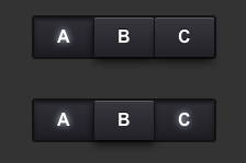 Synth App Buttons in pure CSS